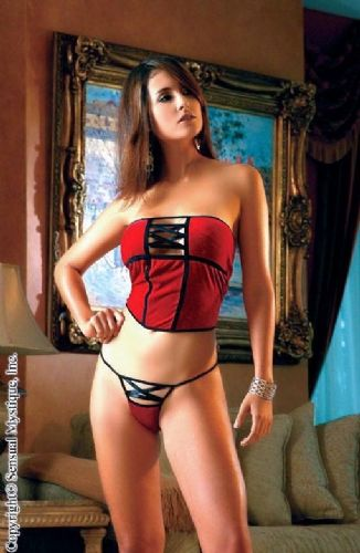 Cami Corset and Thong (Sensual Mystique 80128)